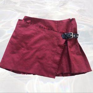 Helmut Lang red pleated mini skirt